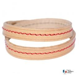Coffret à montres en cuir façon Croco chocolat pour 4 montres - Fabrication artisanale Française