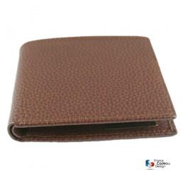 Coffret jeux de cartes gainé en cuir lézard modèle golf - Fabrication artisanale Française