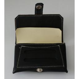 Blague à tabac en cuir noir