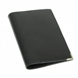 Etui passeport en cuir noir