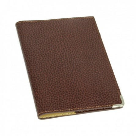Etui passeport en cuir marron