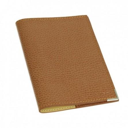 Etui passeport en cuir gold
