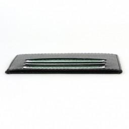 Porte-cartes d'identité et carte bancaire en cuir noir