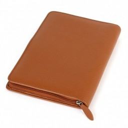 Conférencier porte-document A5 en cuir marron
