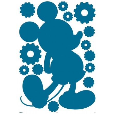 Sticker Tableau Noir forme Mickey + 13 stickers