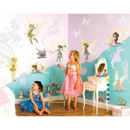 d co chambre disney fairies. Black Bedroom Furniture Sets. Home Design Ideas