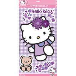 Maxi sticker 3D Hello Kitty Mauve