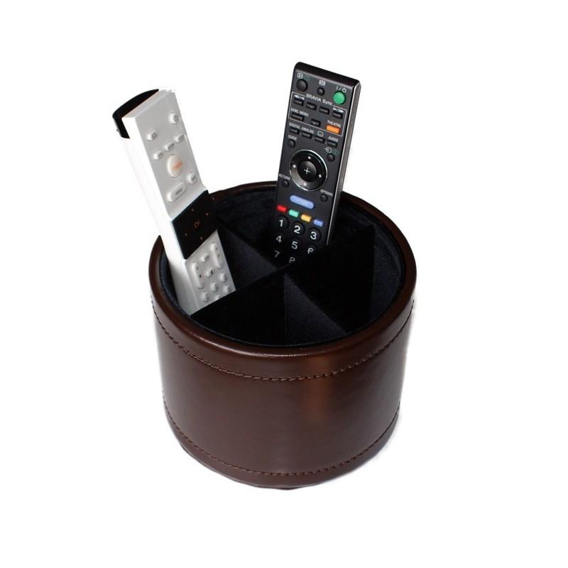 Range télécommande en cuir