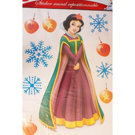 Sticker Blanche Neige Noël