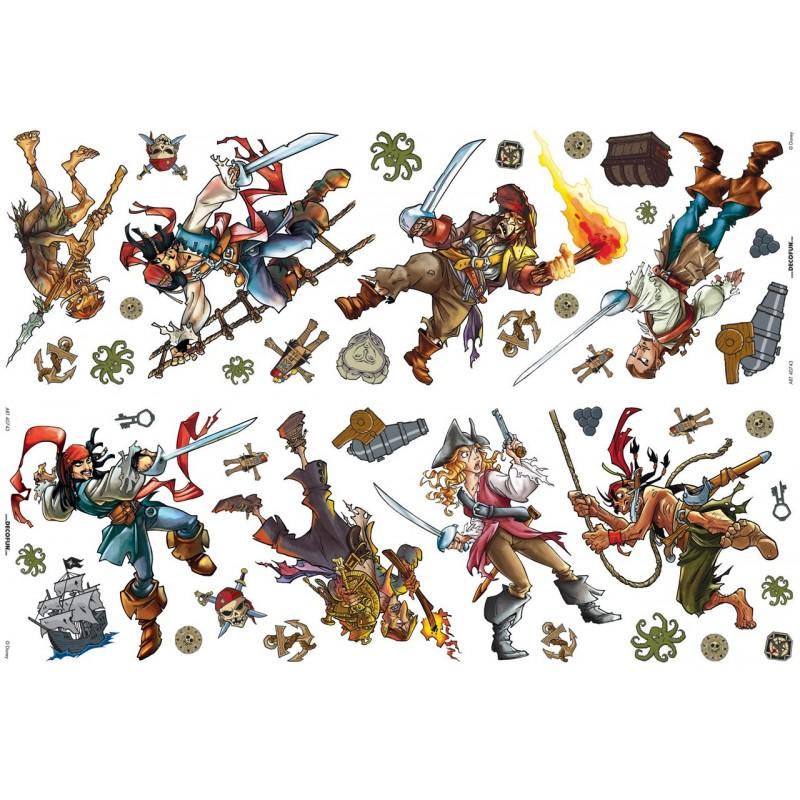 42 Stickers Pirates des Caraïbes de Disney