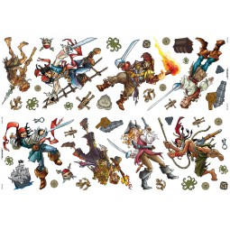 42 Stickers Pirates des Caraïbes de Disney