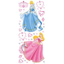 Maxi Stickers cendrillon et Belle au Bois dormant + 27 stickers