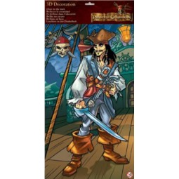 Maxi Stickers 3D Jack Sparrow Pirates des Caraïbes