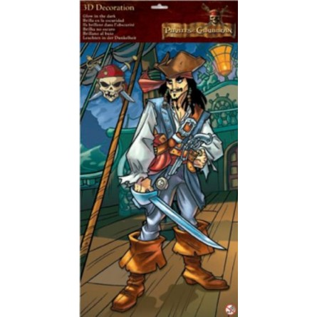 Maxi Stickers 3D Jack Sparrow Pirates des Caraïbes