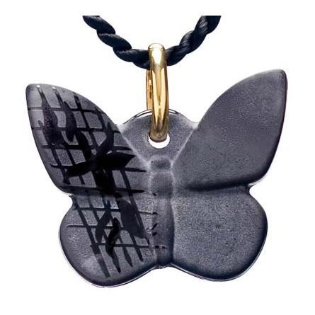 Pendentif papillon dentelle noir