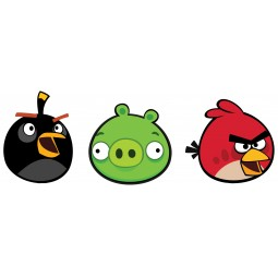 3 éléments en mousse Angry Birds autocollants
