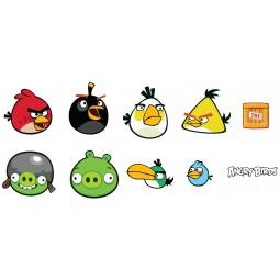 20 Eléments en mousse Mini Angry Birds autocollants