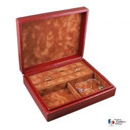 Coffret à bagues et bijoux Croco rouge