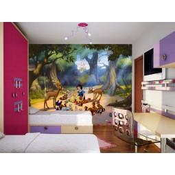 Fresque murale Disney Princess Blanche-Neige et les animaux de la forêt Peint Poster Géant