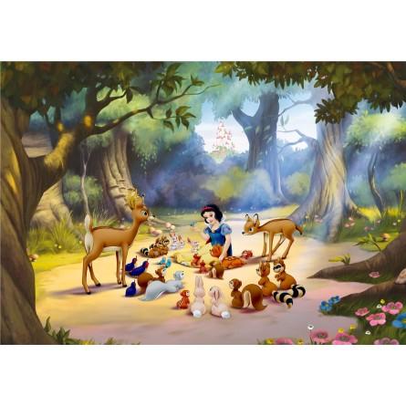 fresque murale disney princess blanche neige et les animaux de la for t peint poster g ant. Black Bedroom Furniture Sets. Home Design Ideas
