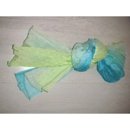 Etole en soie turquoise anis