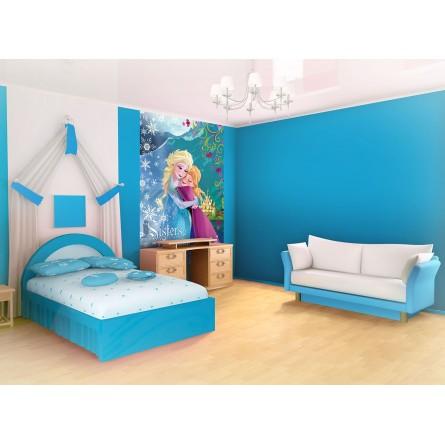 fresque murale la reine des neiges elsa et anna sister forever frozen disney papier peint maxi. Black Bedroom Furniture Sets. Home Design Ideas