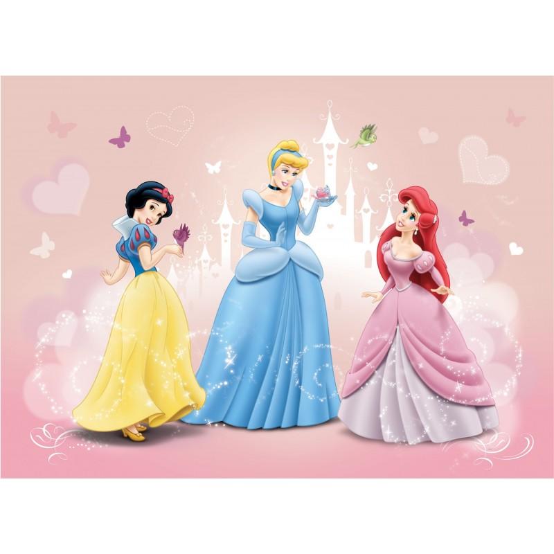 Fresque murale Princesses Disney : Blanche-Neige, Ariel et Cendrillon