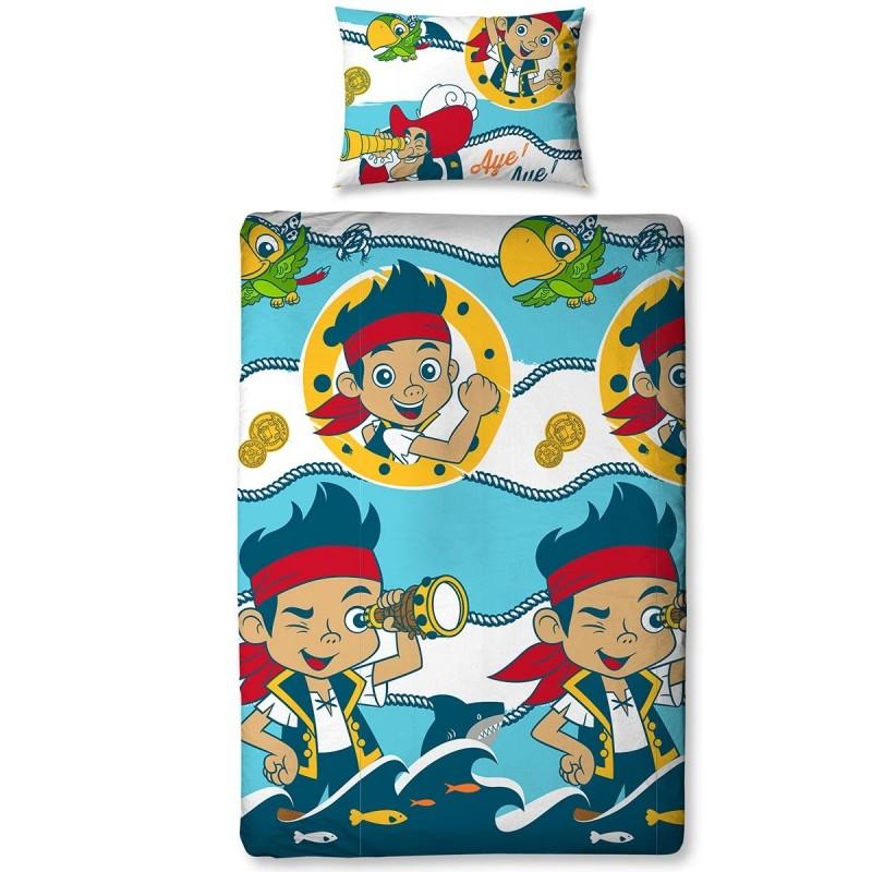 Housse de Couette Sharks Jake et les Pirates du Pays Imaginaire de Disney Junior Avec Taie