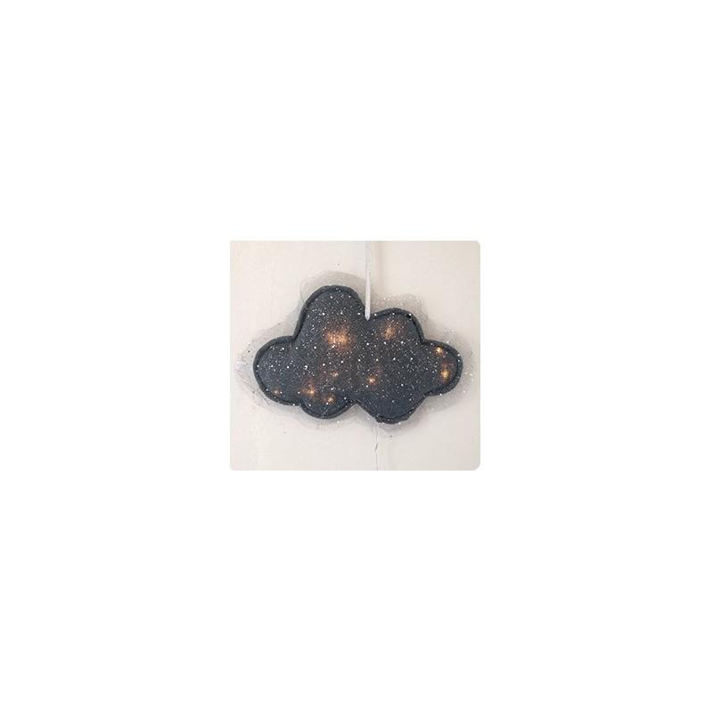 Veilleuse tulle pailleté gris anthracite