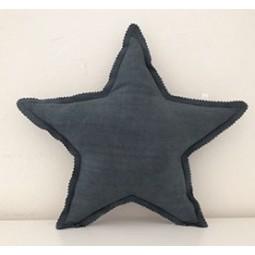 Coussin étoile gris anthracite