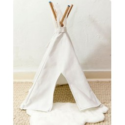Mini tipi blanc 50 cm