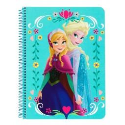 Petit cahier à spirale La reine des neiges petits carreaux