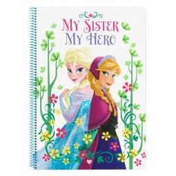 Grand cahier à spirale La reine des neiges petits carreaux