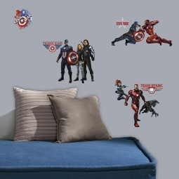 20 Stickers Muraux Captain America
