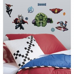 28 Stickers Muraux Avengers