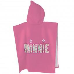 Poncho de bain à capuche Minnie et Fleurs colorées