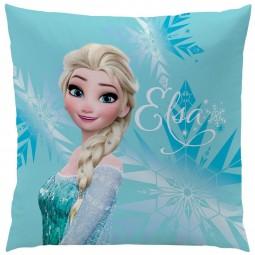 Coussin Reine des Neiges 2 faces imprimées Elsa et Olaf - Disney