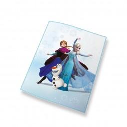 Couverture polaire La Reine des Neige Elsa Anna et Olaf - Disney
