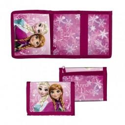 Porte monnaie plat la reine des neiges Elsa et Anna
