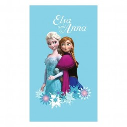 "Serviette de plage La Reine des Neiges ""Magic"" - Elsa et Anna"