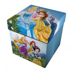 Pouf de rangement 2 en 1 Multicolore Princesses Disney