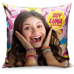 Coussin multicolore imprimé Soy Luna