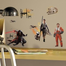 15 Stickers repositionnables Star Wars - Disney