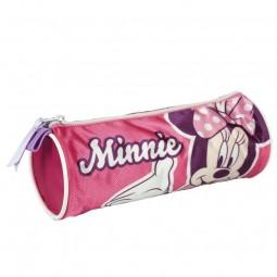 Trousse scolaire ronde Minnie couleur Rose