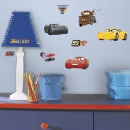 15 Stickers repositionnables Cars 3 - Disney