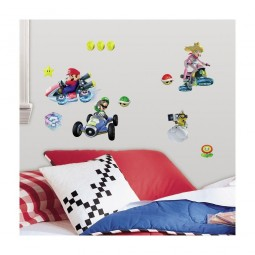 30 Stickers repositionnables Mario Kart 8