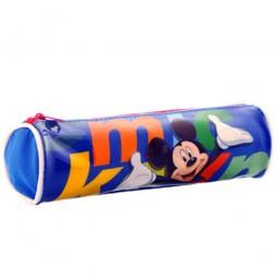 Trousse ronde Mickey bleu
