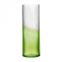 Vase en cristallin vert