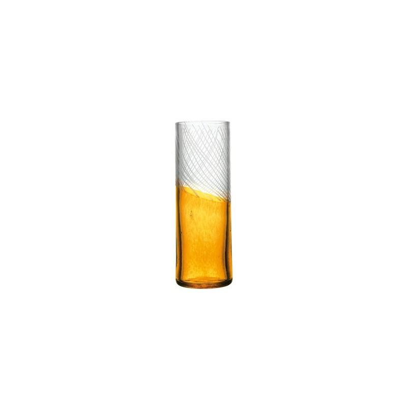 Vase en cristallin ambre