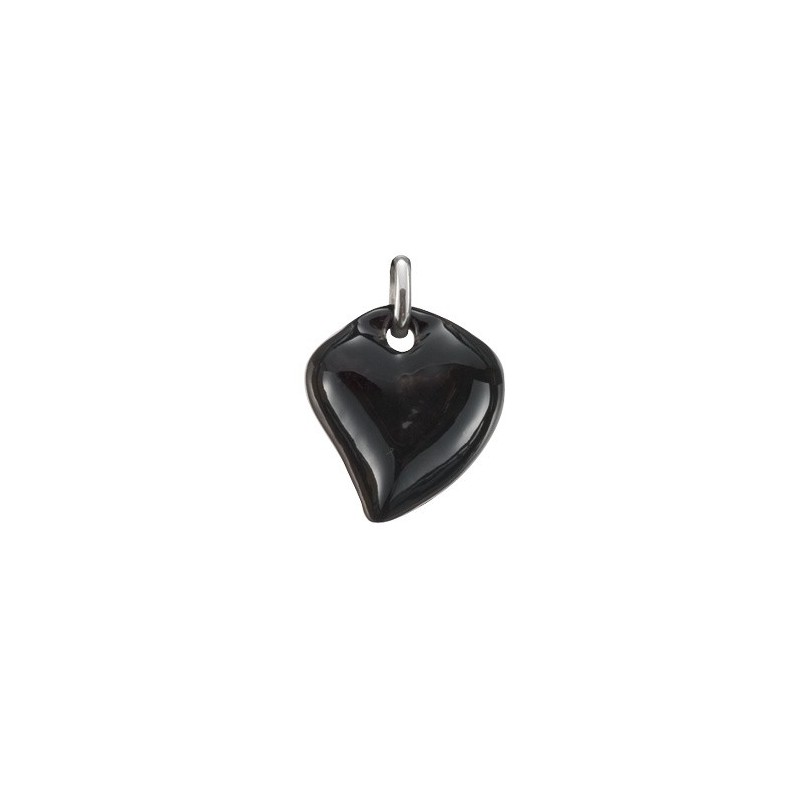 Pendentif coeur noir